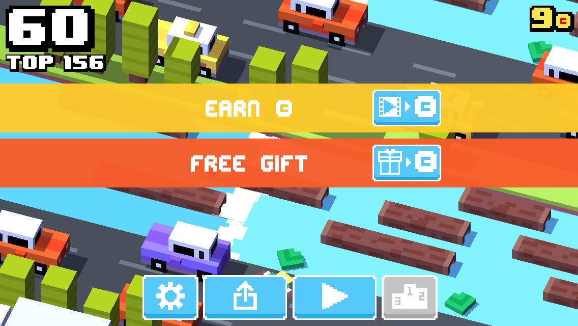 Unity Ads in Crossy Road