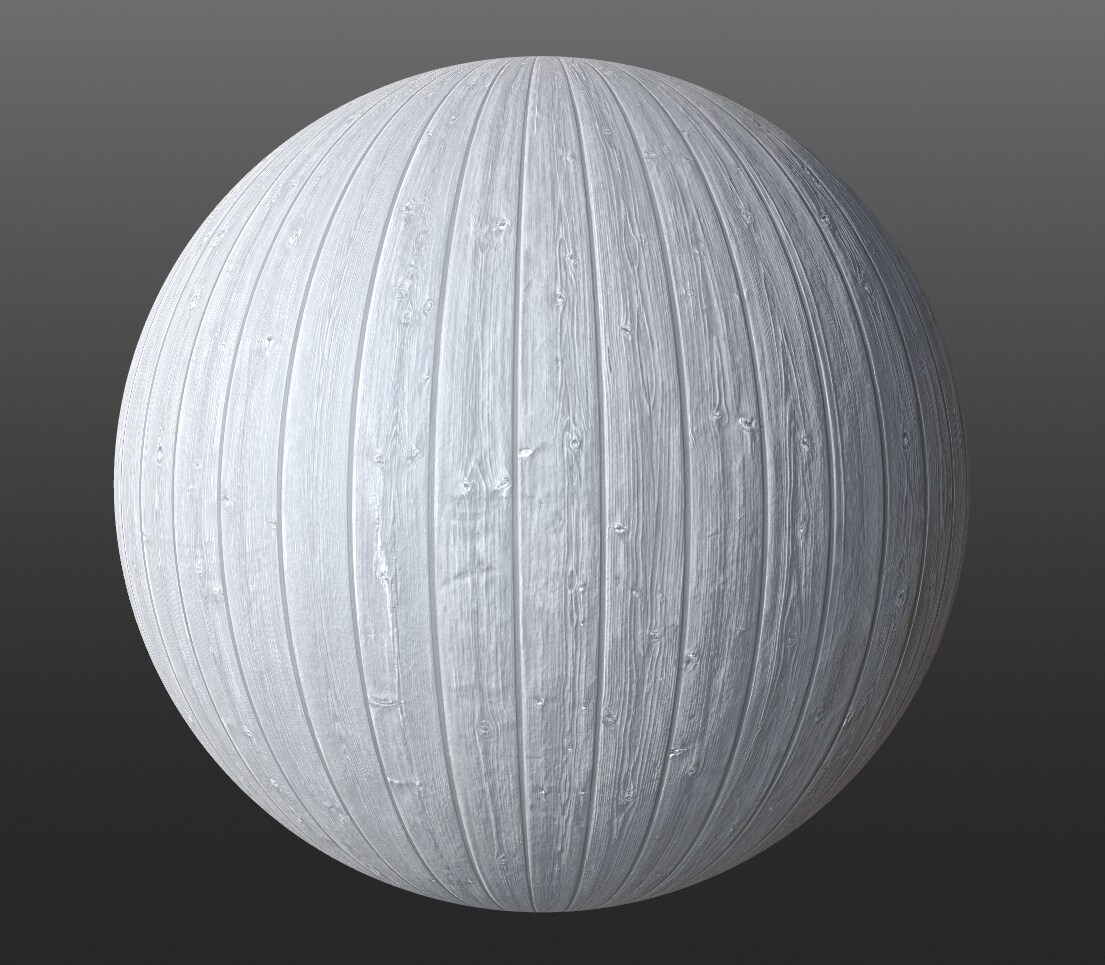 Final PBR material for the inside of the dollhouse. It is white.