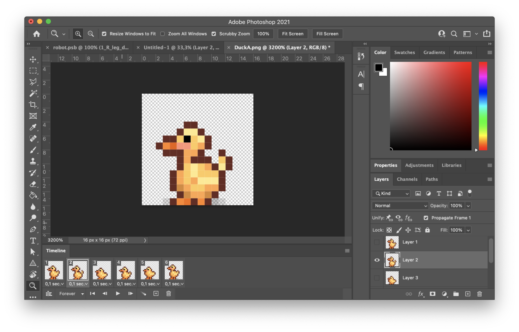 Photoshop file of a rubber duck