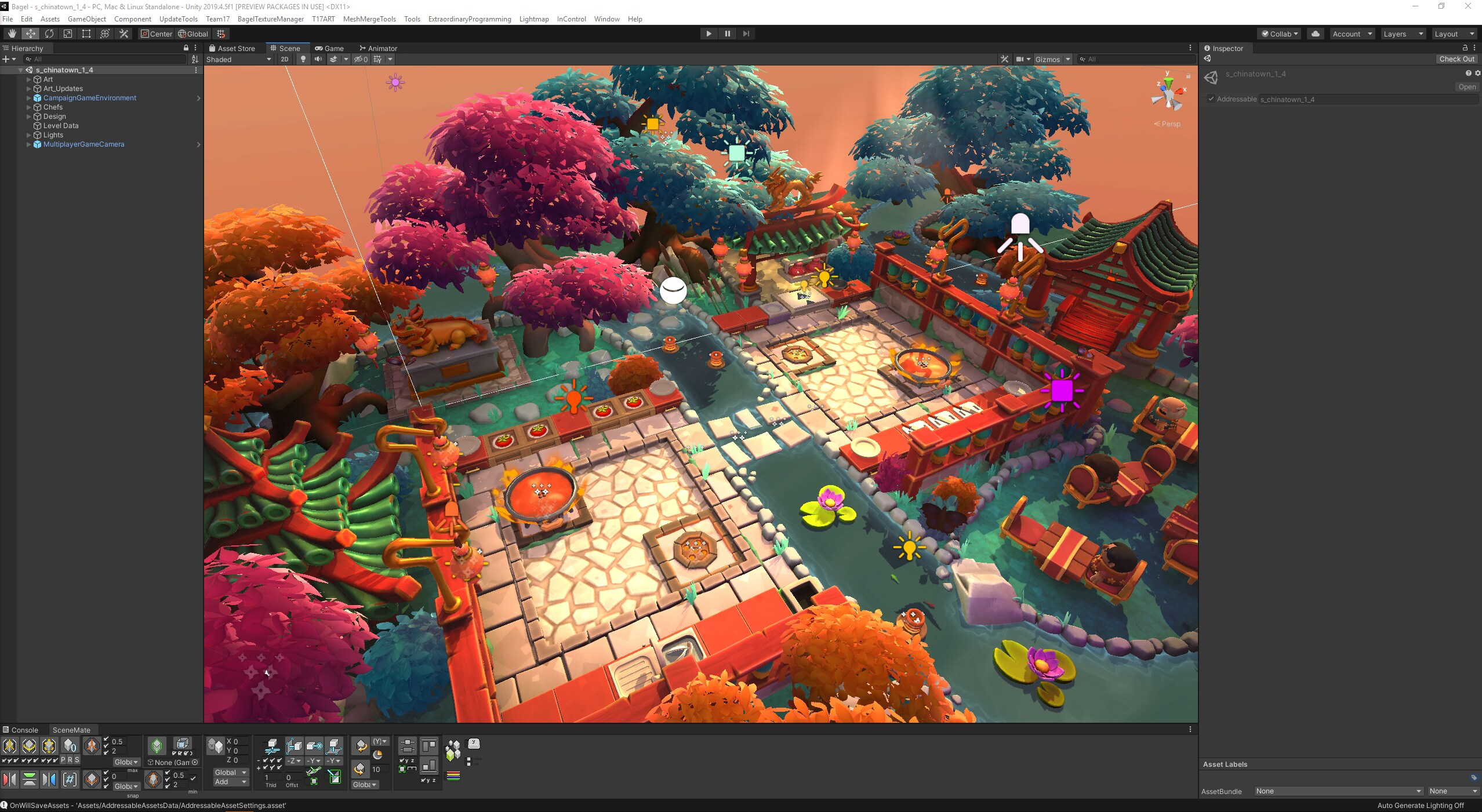 screenshot of Overcooked DLC level in Unity editor