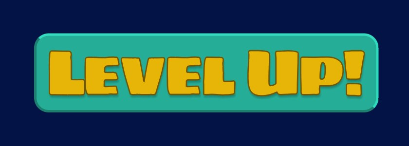 Image of the new UI toolkit level up button