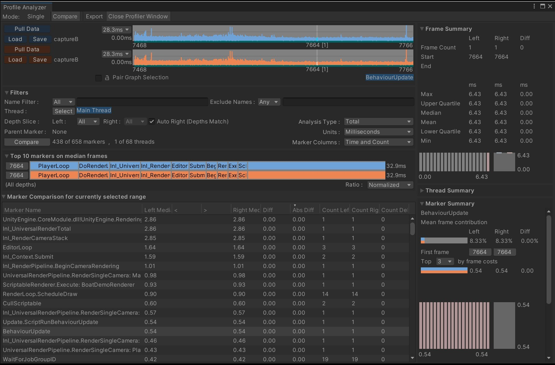 Deeper look at the Profile Analyzer in-editor