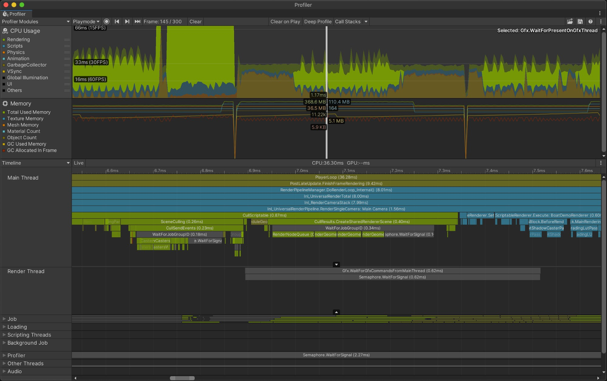 Timeline view in-editor