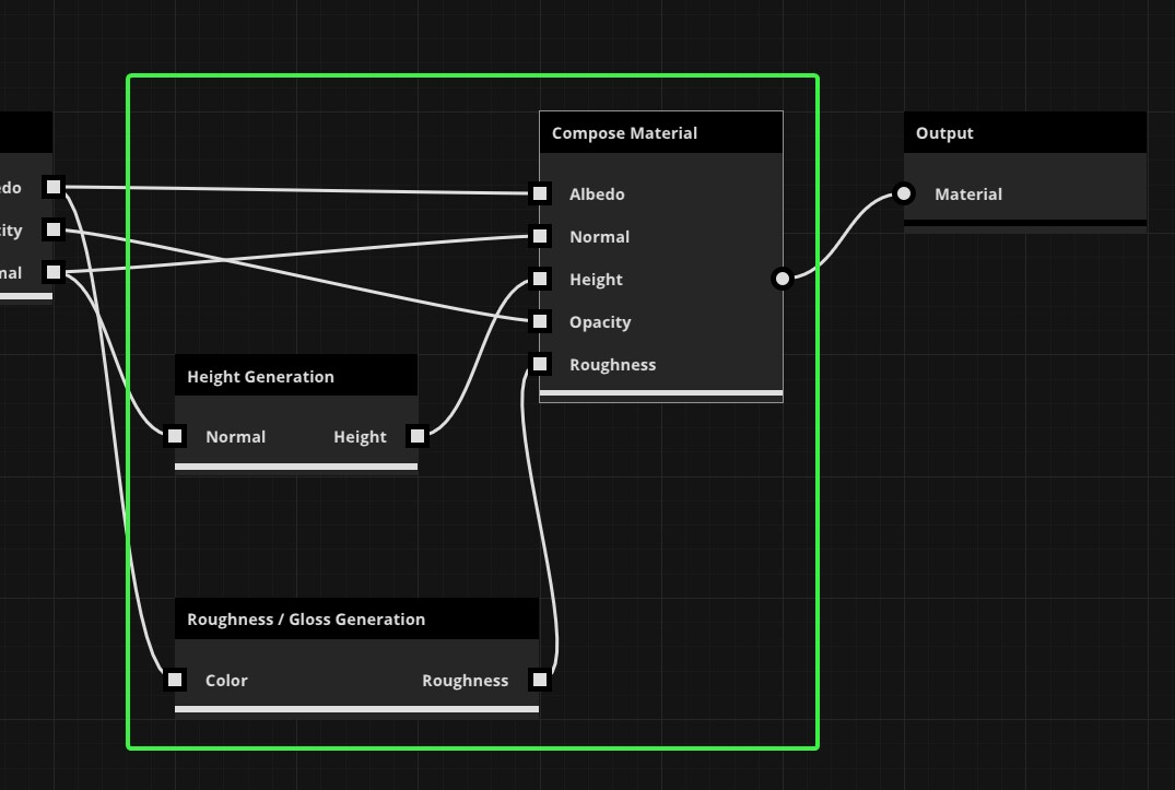 Image of the compose material process inside of ArtEngine.