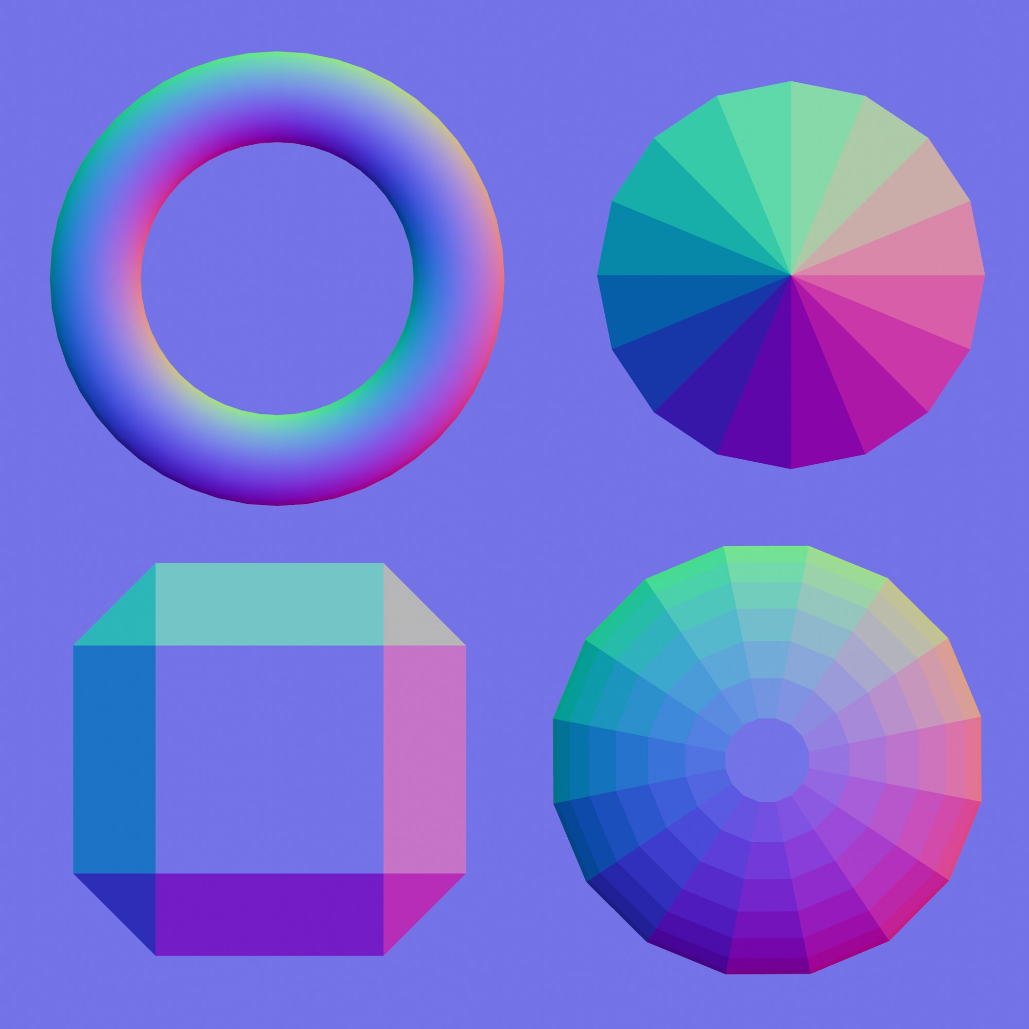 Image depicting how the RGB values affect the angles of the normal map.