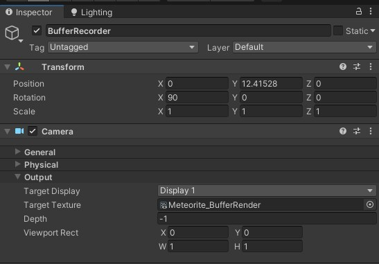 Image depicting how the camera is set up to record the buffer VFX