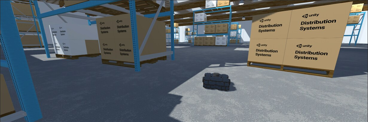 ROS2 photo of machine learning bot in a manufacturing environment