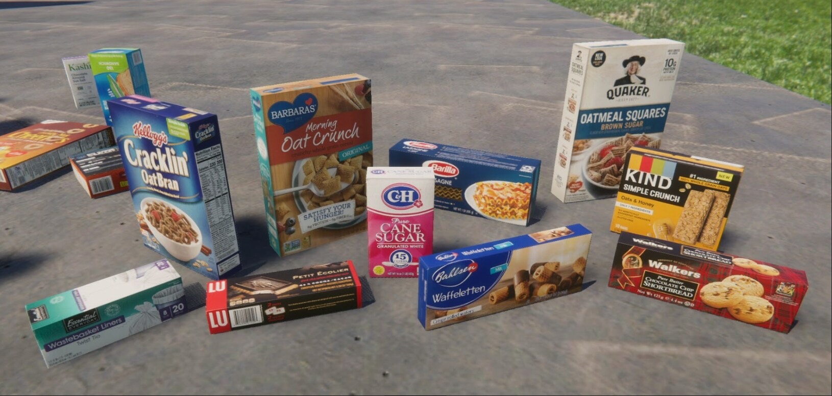 different grocery store products all available in the asset store