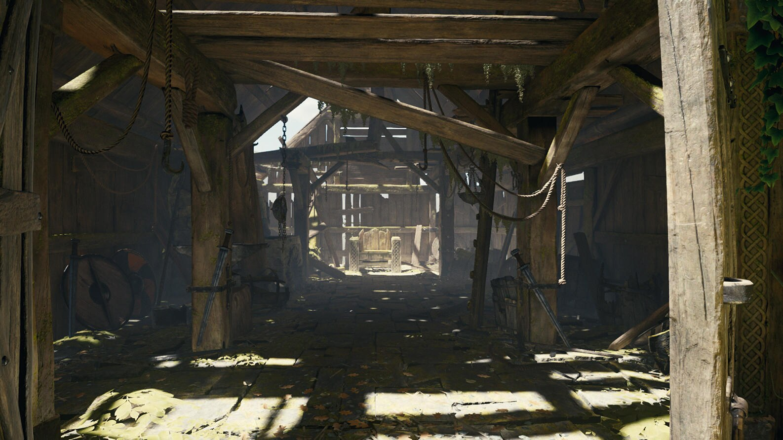 Game view of Smithy interior in 'The Blacksmith - Environments' package