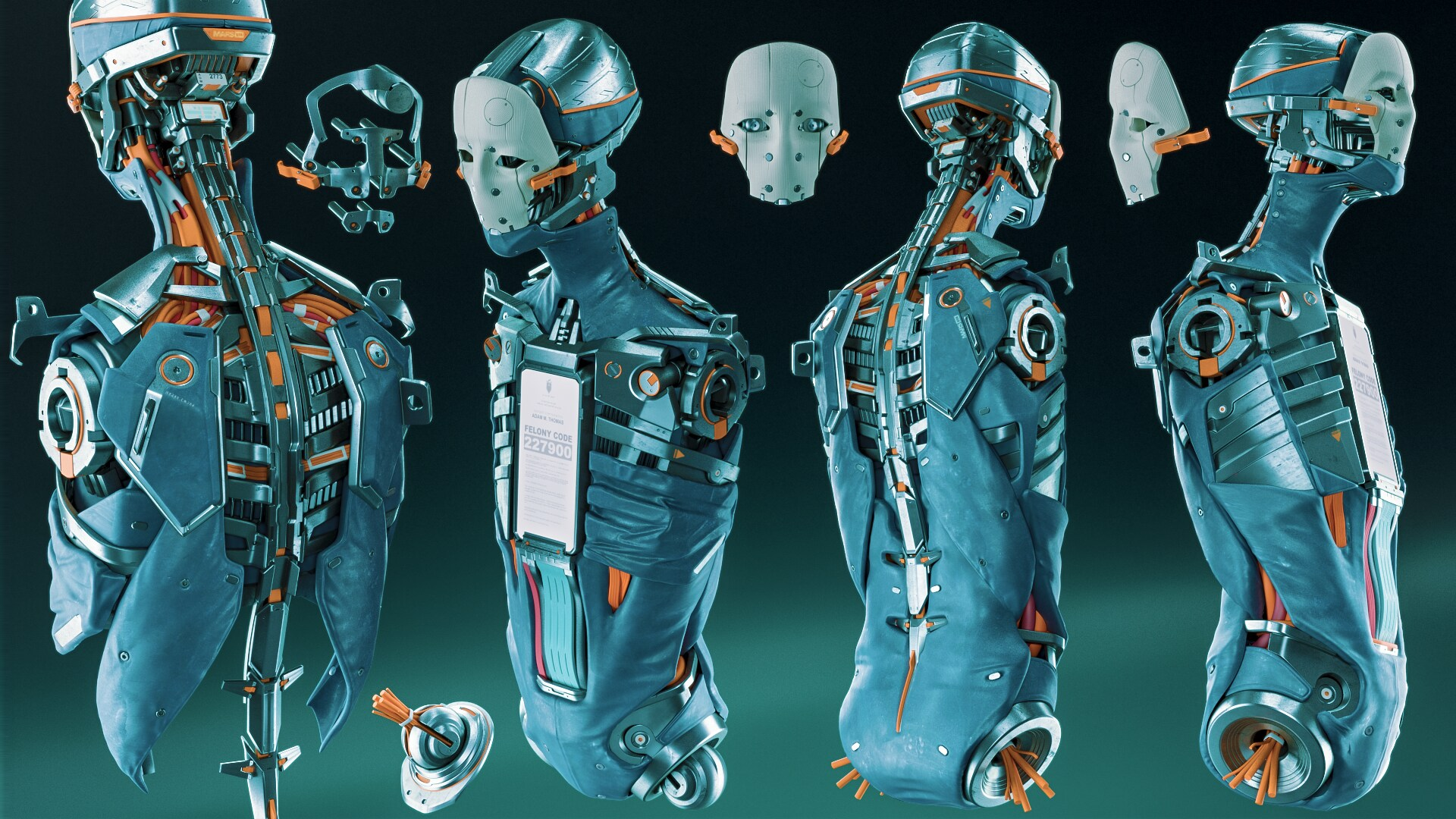 Reference renders for the W.I.P. high poly model of Adam from Vray