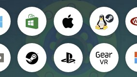 Platforms currently supported by Unity