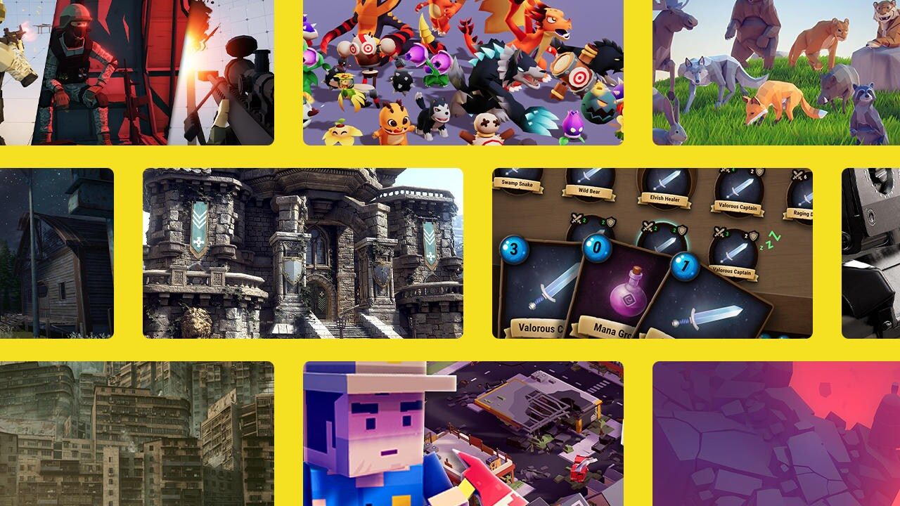 Array of images from Asset Store Publishers