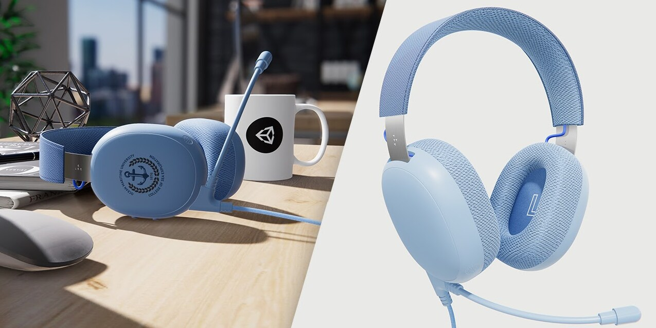 Image showing the product rendering and the finished product of a pair of BuddyPhones